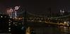 Manhattan Skyline and July 4th Fireworks from Roosevelt Island, New York