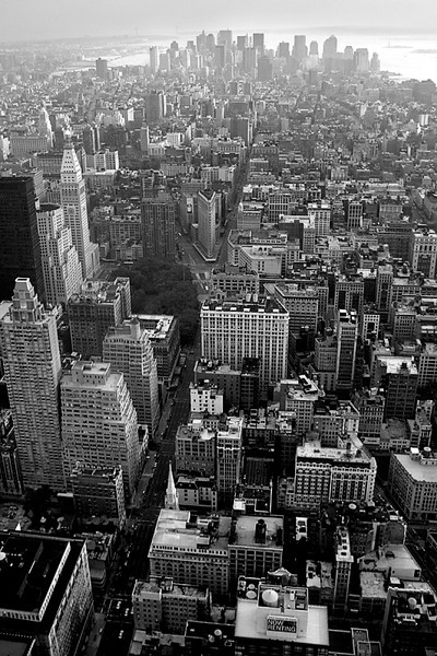Lower Manhattan from Empire State Bldg - New York City