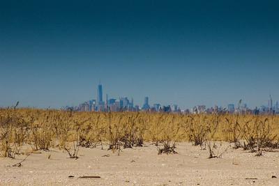 New York City seen from Sandy Hook, New Jersey