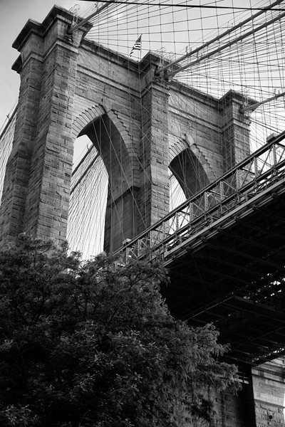 Brooklyn Bridge from Below - New York City