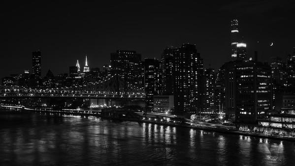 Moon-Venus Conjunction over Manhattan, New York City