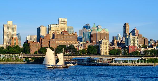 Sailing Past Brooklyn, New York