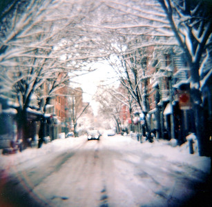 Clinton Street Shot with a Diana camera, 120 film