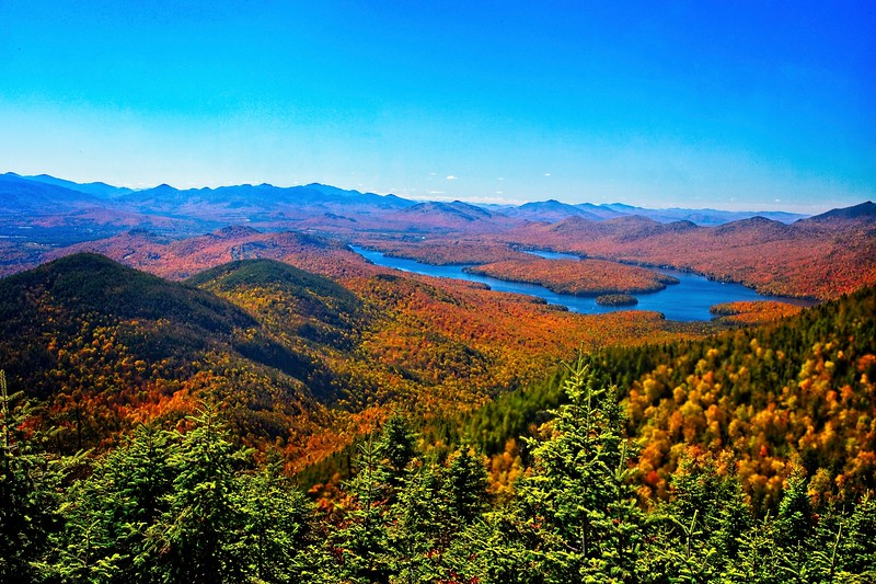 Lake Placid from Little Whiteface Mountain