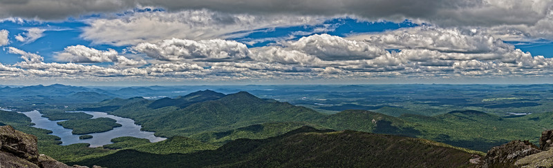 Panorama of Lake Placid from Whiteface Mountain in the Adirondacks