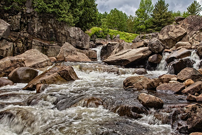 Falls on the Ausable Flume Trail