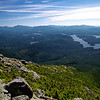 Lake Placid, Mirror Lake, and the town of Lake Placid, seen from the top of Whiteface Mountain.
