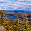 Forth Lake from the top of Bald Mountain in the Adirondack Mountains