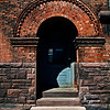 Rochester, New York. Arched doorway in the old part of the city