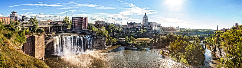 High Falls area in Rochester