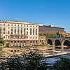 Rundel Library and the Genesee River