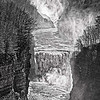 Letchworth Waterfalls in Black and White
