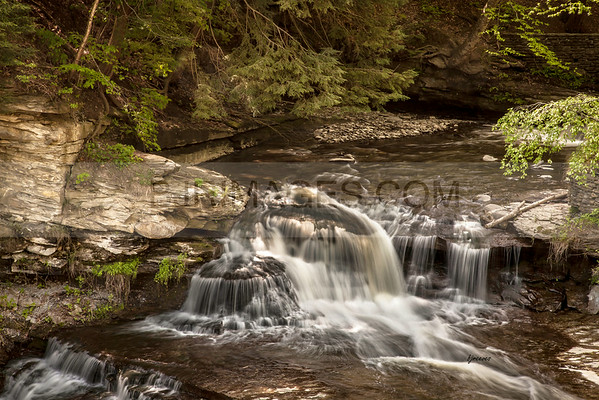Wolf Creek Waterfall in Letchworth state Park