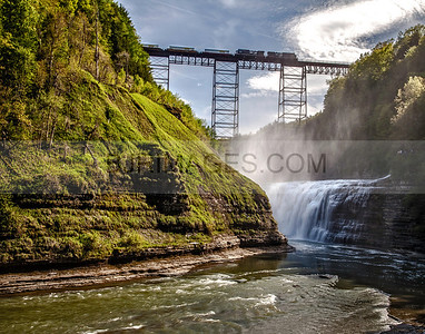 Train Trestle at Upper Falls in Letchworth State Park