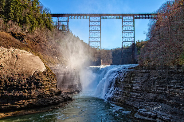 Letchworth Upper Falls and Trestle
