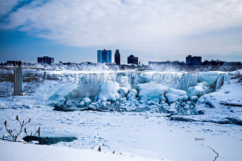 American Falls at Niagara Falls in February