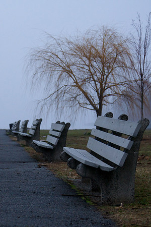 Benches along Hudson - Dobbs Ferry
