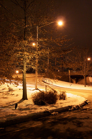 Snow banked curve - Dobbs Ferry
