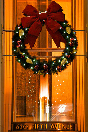 Wreath on International Building, Rockefeller Center