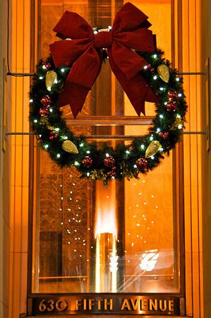 Wreath on International Building, Rockefeller Center