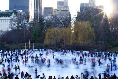 Wollman Rink in motion - Central Park