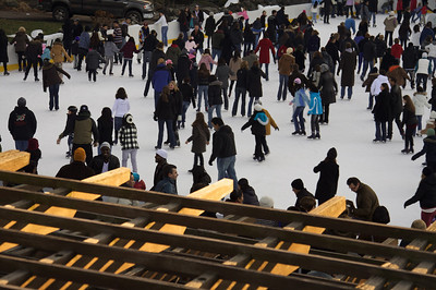 Wollman Rink crowd - Central Park