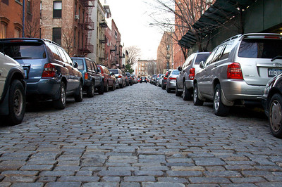 Cobblestone, cars and brick - Brooklyn