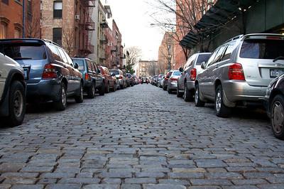 Cobblestone, cars and brick - Brooklyn