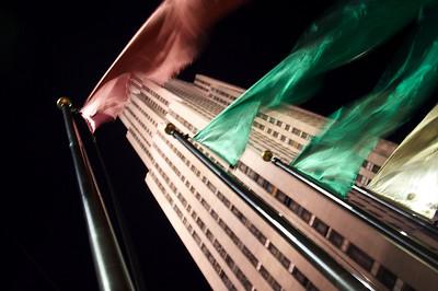 Flags at Rockefeller Center