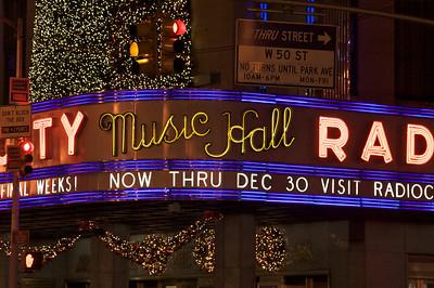 Lights at Radio City Music Hall