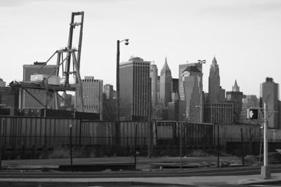 Lower Manhattan from Brooklyn yards
