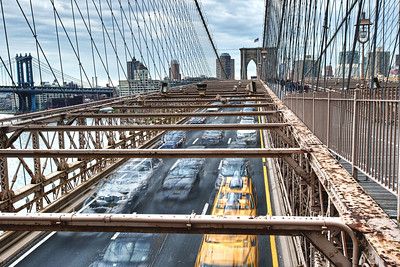 Rush Hour, Brooklyn Bridge, Brooklyn, NY.