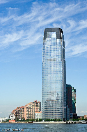 Goldman Sachs Tower and The Colgate Clock - New Jersey, NY, USA