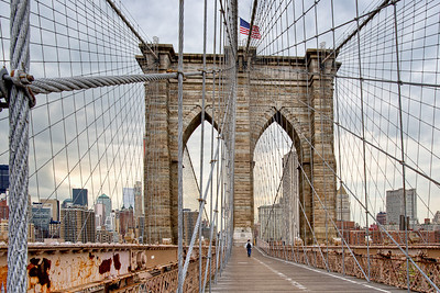 Brooklyn Bridge, Brooklyn, NY.