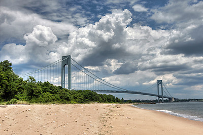 Verrazano Narrows Bridge, South Beach, NY.