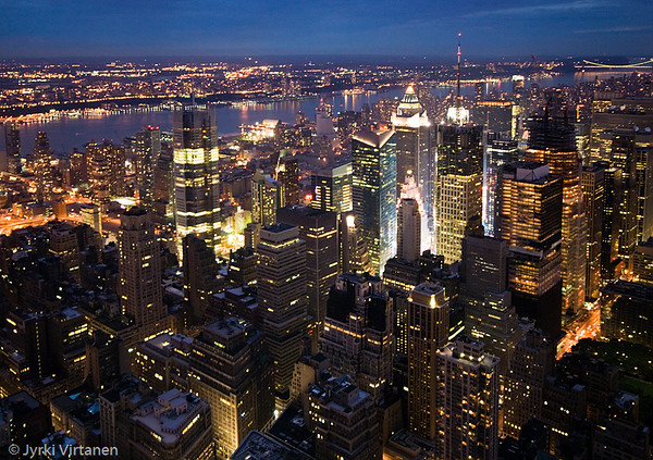 New York City by Night - Empire State Building, New York