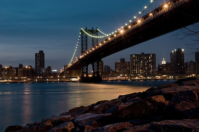 Manhattan Bridge, Brooklyn, NY.