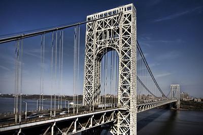 George Washington Bridge taken from Fort Lee, NJ.