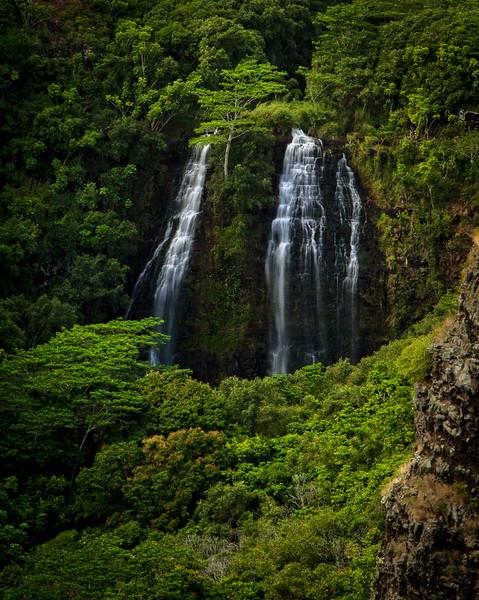 Another beautiful waterfall on Kauai - this one is Opaekaa Falls near Lihue.<br /> Photo © Cindy Clark