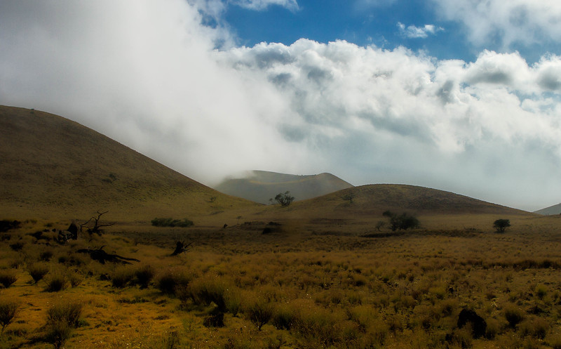 Eerie landscape on the Big Island on the volcanic slopes of Mauna Kea.<br /> Photo © Cindy Clark