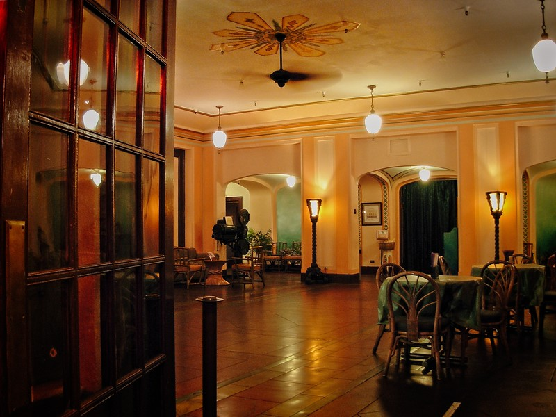 I don't really associate Art Deco with Hawaii, but Hilo has some amazing buildings downtown. This is the lobby of the Palace Theater.<br /> Photo © Cindy Clark