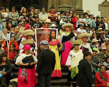 Ecuardorians, President's Speech, Quito, Ec