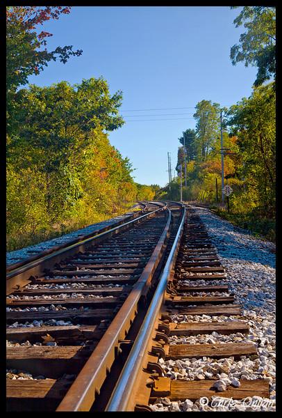 Railroad tracks near Bratleboro, VT