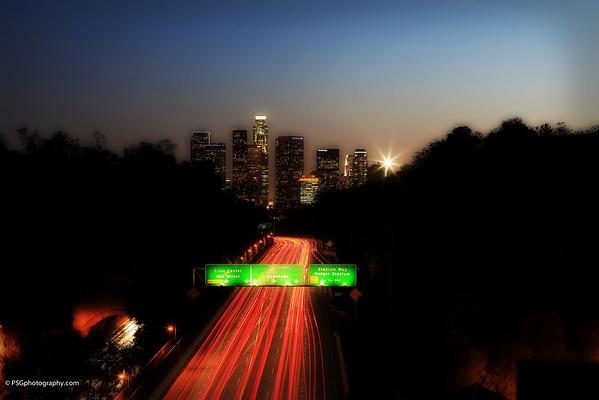 Downtown Los Angeles - Elysian Park 110 Freeway Bridge