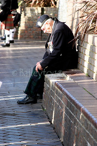 An old soldier takes a break during the Rememberance Day Parade in Newcastle 2005