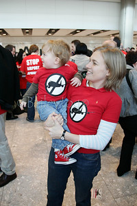 Stop the runway expansion protest terminal 5 heathrow thurs 27 March 2008