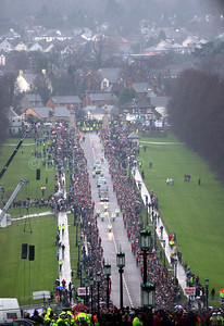 The funeral of George Best at Stormont, Belfast 03December 2005