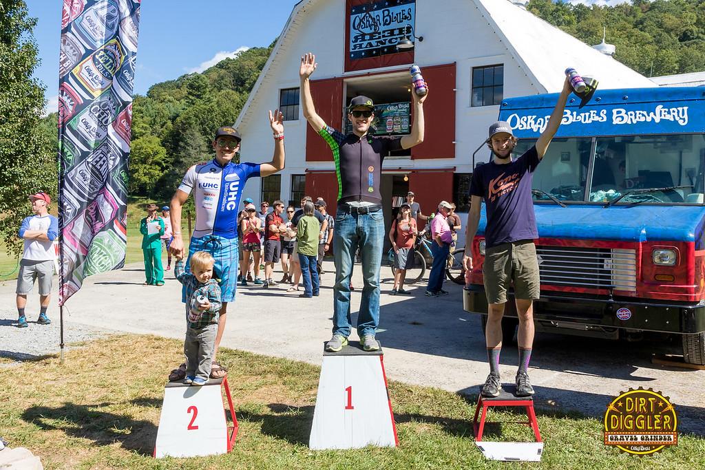 Men's overall winners.