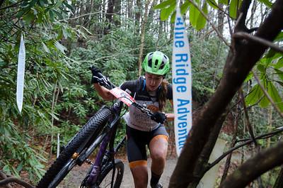 Kaysee Armstrong on her way up Daniel Ridge.