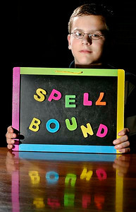 Andrew Grose, 12, poses in his Town of Sheboygan home on Thursday, May 21, 2009. Grose, a seventh grader at Lake Country Academy, is the only competitor from Wisconsin headed to Washington D.C. for the Scripps National Spelling Bee to face off with nearly 300 other spellers. Photo by Sam Castro/The Sheboygan Press